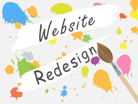 Page design site closed for redesign. Changing the design of the site. Work on the develop of the site. Vector seamless illustration Illustration