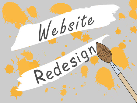 Page design site closed for redesign. Changing the design of the site. Work on the develop of the site. Vector seamless illustration Ilustrace