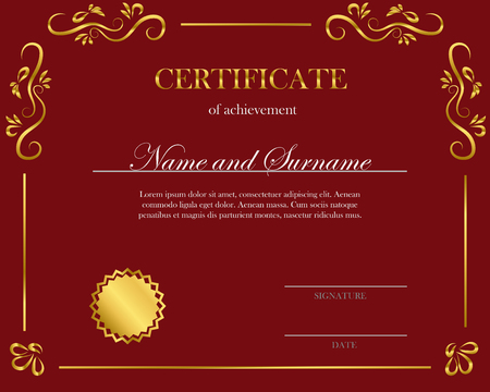 Creative certificate, diploma. Frame for diploma, certificate. Certificate template with elegant border frame.