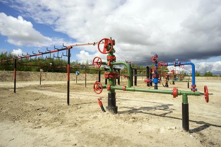 wells: Bush wells in the oil field in Siberia.