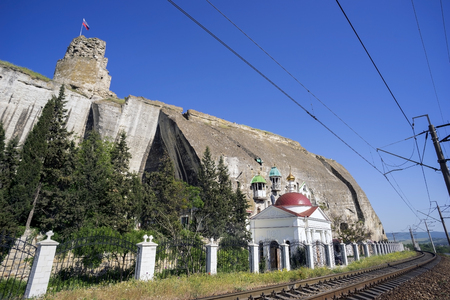 clement: Inkerman St. Clement cave monastery. Crimea, Inkerman, Sevastopol. Stock Photo