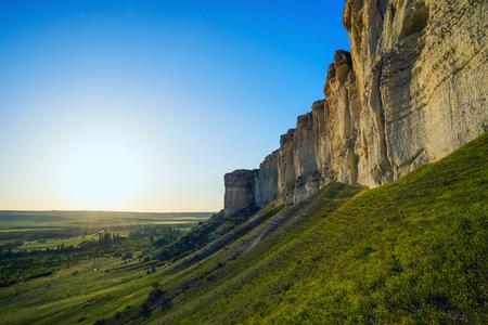 plateau: At the foot of the White Rock AK-Kaya, Crimea