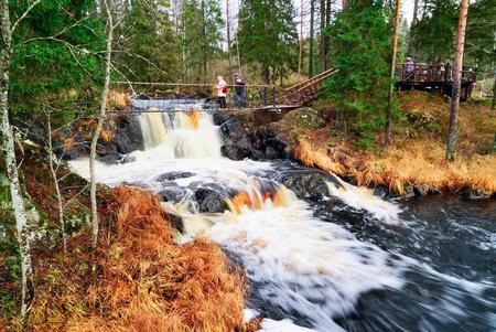 Landscape Park Waterfalls Ruskeala, Russia