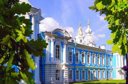 Resurrection Cathedral of the Smolny monastery. Saint-Petersburg.
