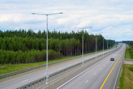Section of highway M-11. The direction in the direction of St. Petersburg