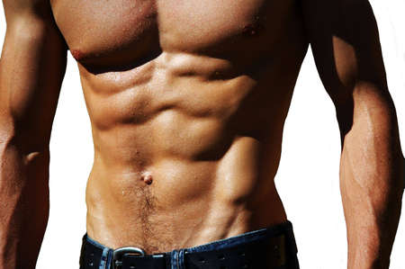 naked male: well defined naked male torso
