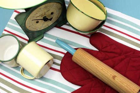 Gant de cuisine Rétro Vert