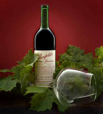 95: ADELAIDE, SOUTH AUSTRALIA – FEBRUARY 23, 2015: Bottle of Australian premium wine, Penfolds Grange Hermitage, Bin 95, vintage 1988, bottled 1989 in the Barossa Valley, South Australia, and now considered highly collectable by wine collectors from around