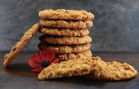 remembrance day poppy: Australian Anzac biscuits