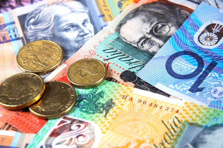 Australian Money concept for savings, spending, or 30th June End of Financial Year sale.