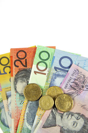 downunder: Australian Money concept for savings, spending, or 30th June End of Financial Year sale.