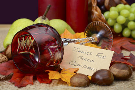 Country Style Rustic Thanksgiving Table With Place Setting ...