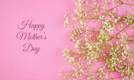 Floral background with copy and negative space for feminine holiday, birthday, or Mothers Day celebration.