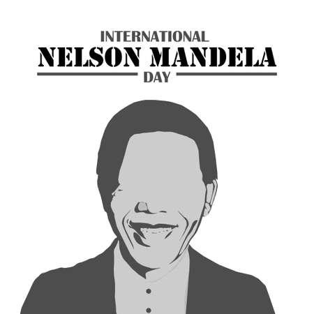 International Nelson Mandela Day, Nelson Mandela abstract, poster, illustration vector