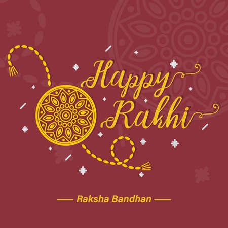 Happy Raksha Bandhan, Rakhi, greeting poster, card, vector illustration  イラスト・ベクター素材