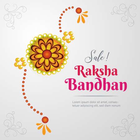 Raksha Bandhan sale banner template, rakhi poster, vector illustration