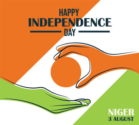 Happy Independence day Niger, 3 August, poster, flat illustration, vector