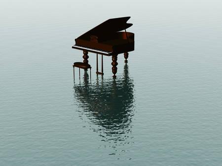 pentagramma musicale: Piano mare