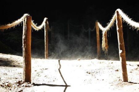 roped: Dusty cordada camino  Foto de archivo