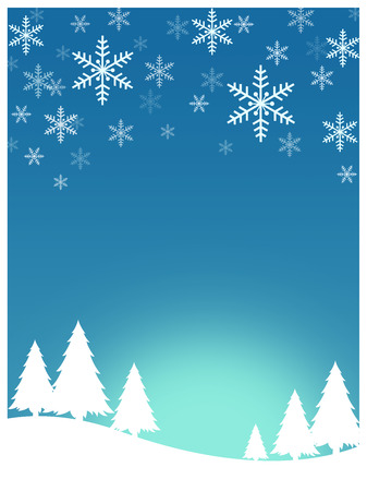 Snowflake pattern on blue background for Christmas card 写真素材
