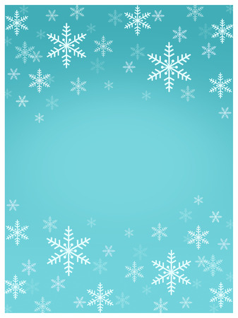 Card with Snowflake pattern on blue backgrouond 写真素材