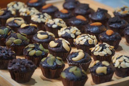 Mini chocolate Muffins for party