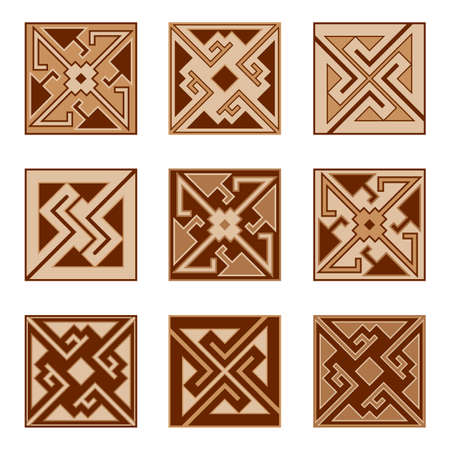 Set of parquet floor  or ceramic tile patterns. Parquetry, laminate, ceramic tiles, seamless pattern, set of textures for home interior design, modern style. Vector illustration Banque d'images - 108429925