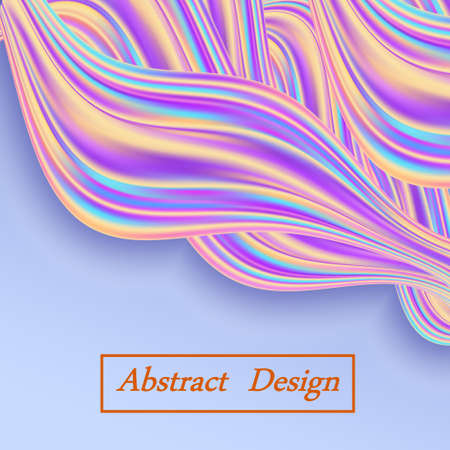 Rainbow wave swirl background, trendy modern design for banner or poster. Color flow, twisted waves. Abstract vector illustration