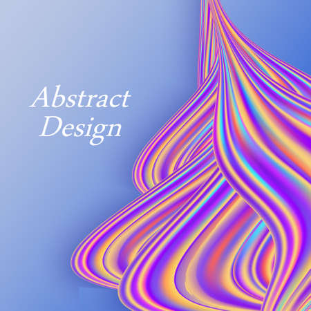 Rainbow color flow wave, trendy modern background design for poster or banner. Lliquid wavy texture. Abstract vector illustration