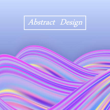 Rainbow wave pastel background, holographic color flow, modern trendy design. Abstract vector illustration
