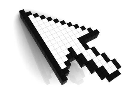 Arrow cursor on white background Stock Photo - 12432391