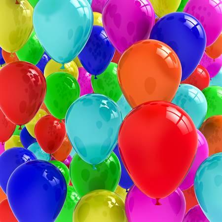 ballons: Ballons color�s Banque d'images