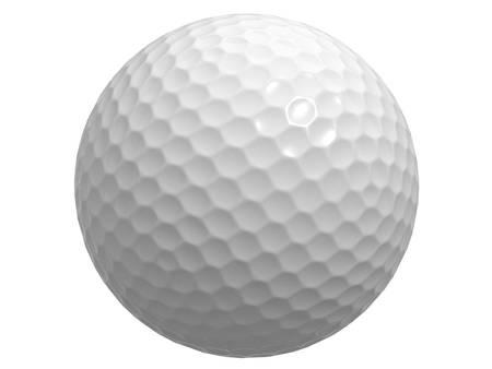 pelota de golf: Pelota de golf aislado sobre fondo blanco Foto de archivo