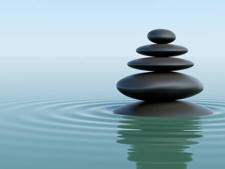 zen water: Zen Stones Stock Photo