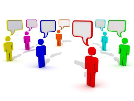Communication concept with speech bubbles photo