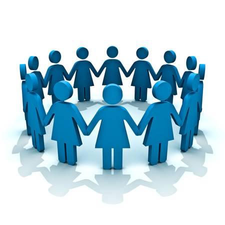 cadenas: Grupo de mujeres, concepto de equipo