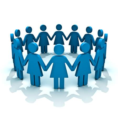 simbolo uomo donna: Gruppo di donne, concetto di squadra
