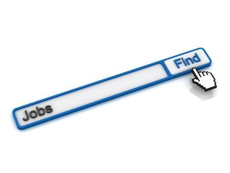 search button: Find jobs on the internet concept