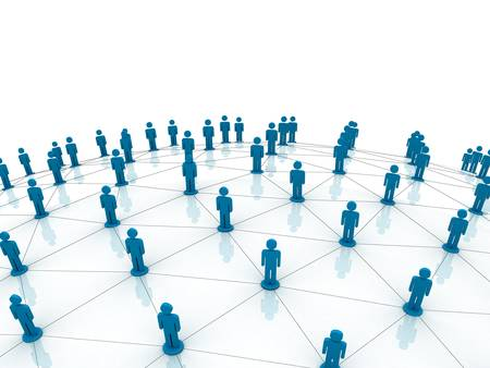 networking: Social network concept Stock Photo