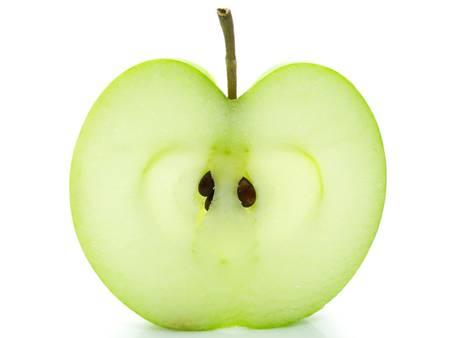 nourish: Apple slice isolated on white background