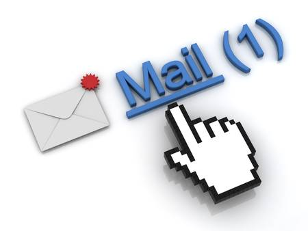 New email message in the inbox concept Stock Photo - 12432432
