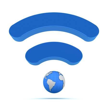 digital signal: Wifi wireless global technology icon Stock Photo