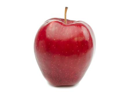 Red apple isolated on white background photo