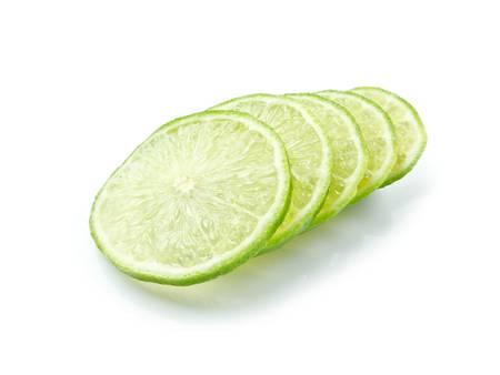 seedless: Lemon slice on white background