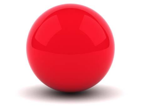 Sphère rouge sur fond blanc Banque d'images - 12432463