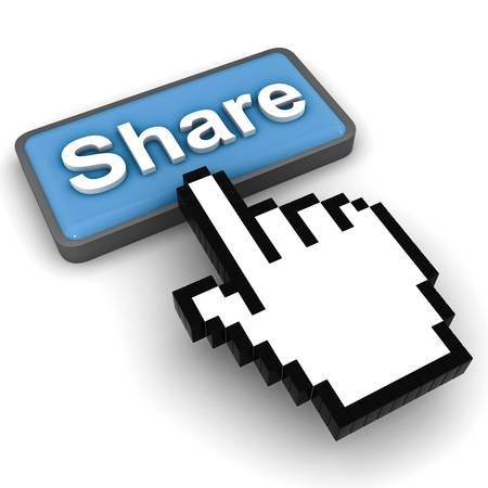 Share button concept on white background Stock Photo - 12432604