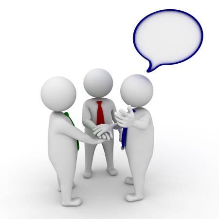 invitando: Invitar personas a unirse al equipo, el equipo de negocios de unirse concepto de las manos sobre fondo blanco