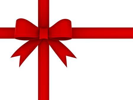 wraps: Arco rojo cinta de regalo aislados sobre fondo blanco