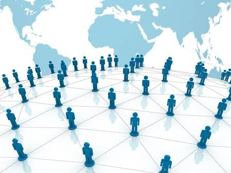 сеть: Социальная концепция сети на мировом фоне карты мира Фото со стока