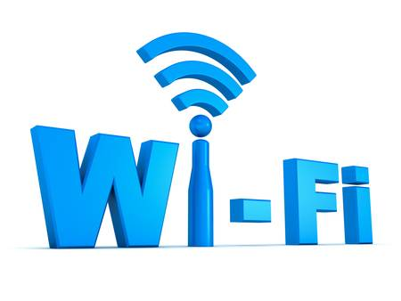 Wifi icon concept isolated on white background photo